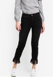 Miss Selfridge black Super Shredded Relax Skinny Fit Jeans MI665AA17JDAMY_1