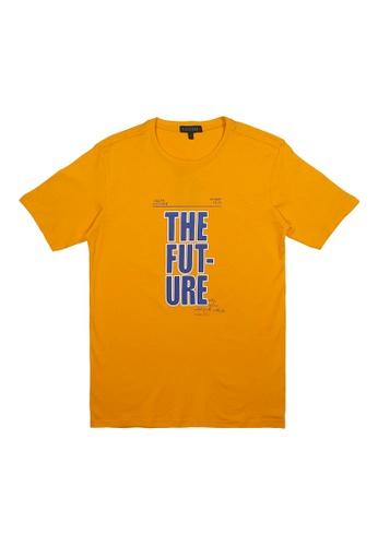 DRUM black and orange and blue DRUM The Future tee - Orange DFE26AAFD75CC6GS_1