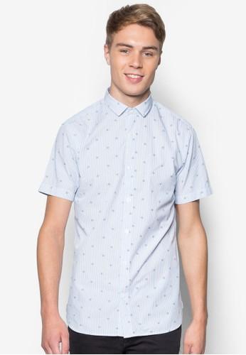 Mozz 印esprit台北門市花短袖襯衫, 服飾, 服飾