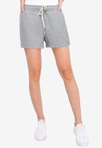 GAP grey Fleece Shorts 39FC6AAFA70F86GS_1