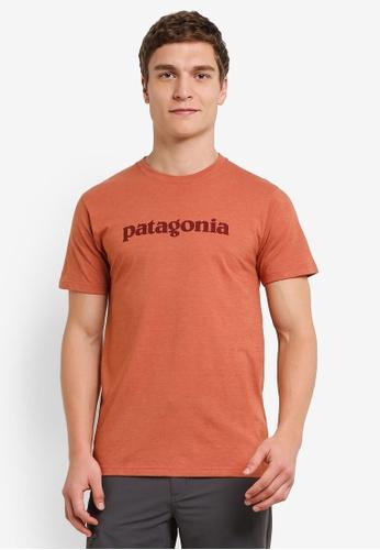 Patagonia brown Text Logo T-Shirt PA549AA0RQESMY_1