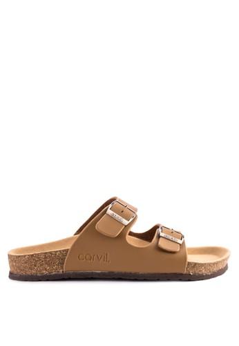 CARVIL brown Carvil Sandal Casual Men Jaden-02 M Stone 50435SH7338EE5GS_1