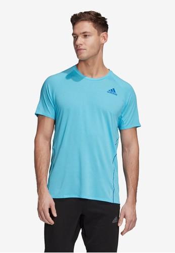 ADIDAS blue runner tee men 1D2E9AAC26396DGS_1