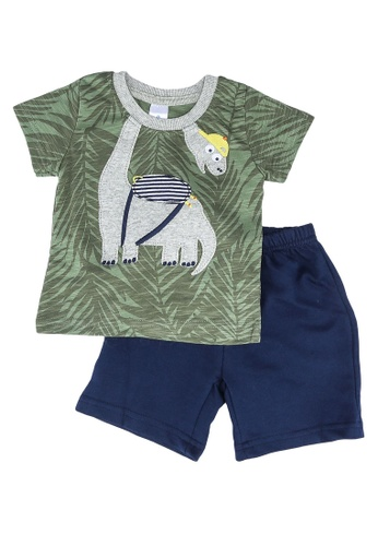 Milliot & Co. green Augustus Boys Top & Bottom Set 249ECKA77C33D5GS_1