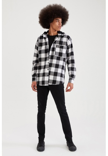 DeFacto black Long Sleeve Oversize Shirt 56C94AAAA814C9GS_1
