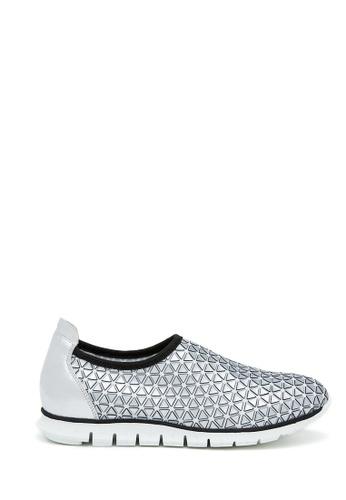 PAZZION silver Sporty Sneaker 157B3SH6F2BBB0GS_1