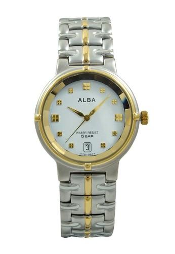 ALBA Jam Tangan Pria - Silver Gold - Stainless Steel - AXDL78