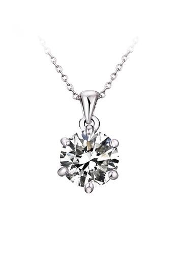 OUXI silver OUXI Cubic Zirconia Necklace OU821AC18OGBMY_1