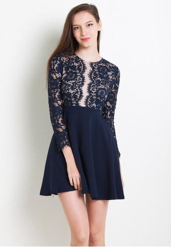 Leline Style blue Astley Lace Dress LE802AA67ZKQSG_1