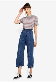 fb6348ae85 Something Borrowed Frayed Detail Straight Cut Jeans HK$ 279.00. Sizes XS S  M L XL
