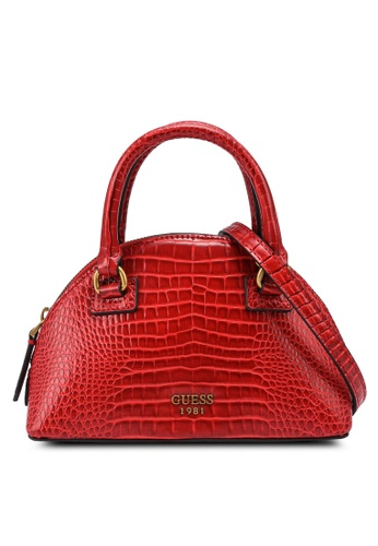Guess red Shilah Small Top Handle Bag B1C99AC73C6FD2GS_1