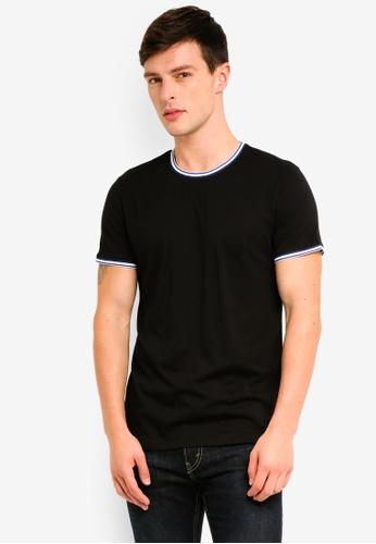 ESPRIT 黑色 短袖T恤 D5ED6AA0465B9FGS_1