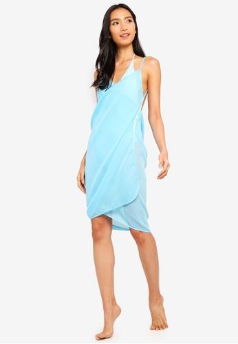 397dbf874b PINK N' PROPER blue Mira Chiffon Beach Cover Up Dress 5A61AUS7BAB17EGS_1.  CLICK TO ZOOM