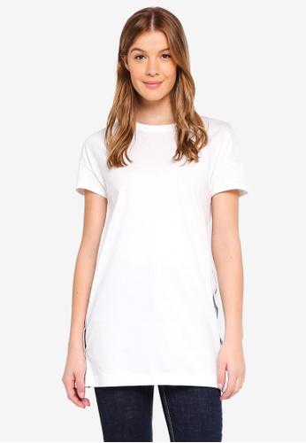 ESPRIT white Side Buttons T-Shirt 6402FAA1337917GS_1