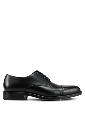 MANGO Man black Leather Blucher Shoes 28193SHDBAE4E7GS_1