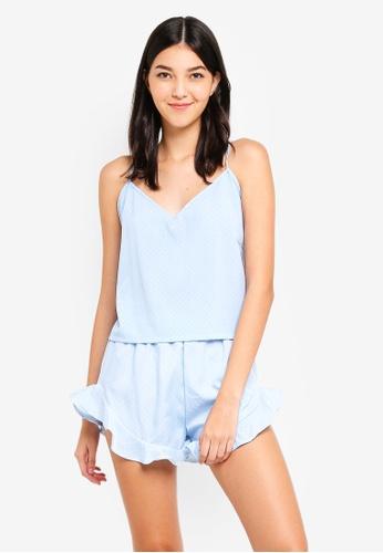 MISSGUIDED blue Cami Polka Dot PJ Set D0449AACA0E6D8GS_1
