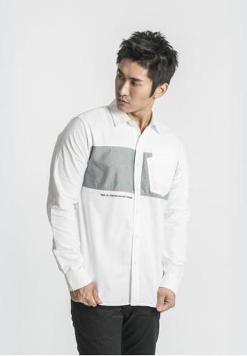 L.I.M.I.T.E white Men's Double Pocket Shirt 4E37FAAC169A33GS_1