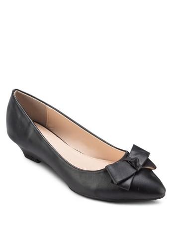 esprit outlet 香港蝴蝶結低楔形鞋, 女鞋, 厚底楔形鞋