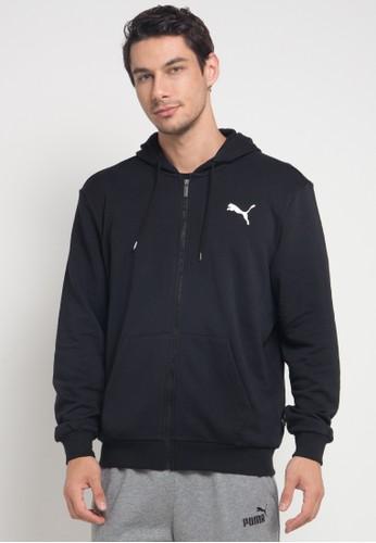 Puma black Sportstyle Core Essentials FZ Training Hoody 74CE9AA2354897GS_1