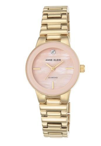 104e45451 Anne Klein gold Anne Klein Woman's Watch (AK-2670PMGB) - Diamond Dial Gold