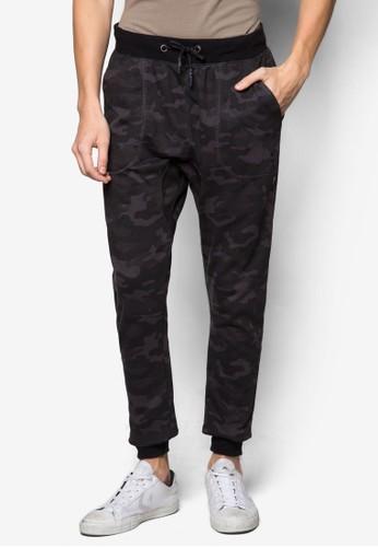 迷彩束口運動長褲, esprit暢貨中心服飾, 窄管褲