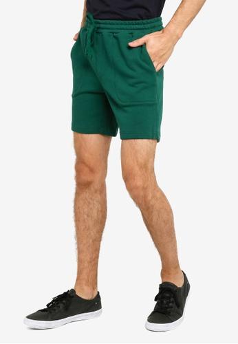 UniqTee green Basic Jogger Bermuda Shorts BB8E1AAB857DCAGS_1