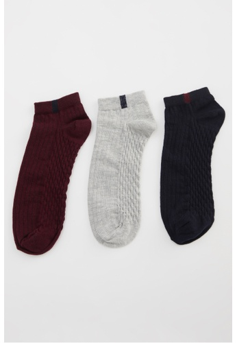DeFacto multi 3-pack Low Cut Socks F8209AAA4E6FBFGS_1