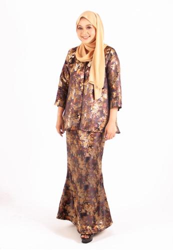 FATIMÉ black and gold and brown Princess Brocade Aminah (Black) A8193AA88930ABGS_1