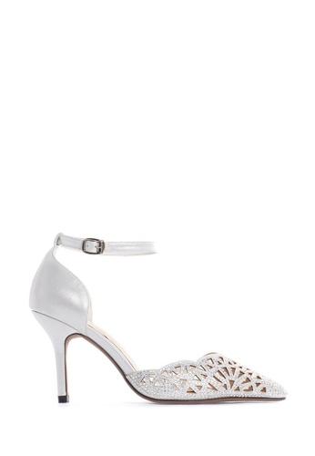PAZZION silver Diamante Heels 8AD6DSH537F1ADGS_1