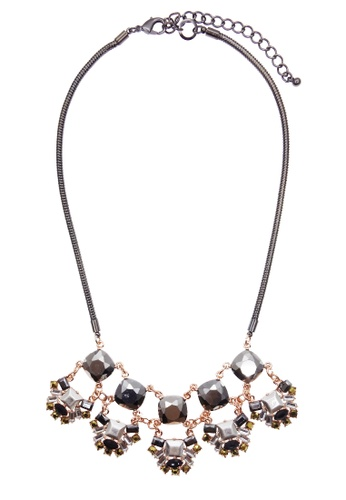 LUCCACAL black and grey Ciella Necklace LU294AC86VHXMY_1
