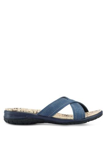 Bata 藍色 交叉繞帶軟木涼鞋 1B03BSH9CD74BCGS_1