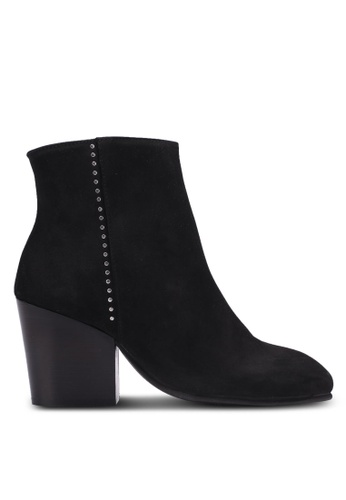 Selected Femme black Amber Nubuck Studed Heeled Boots SE157SH0S40TMY_1