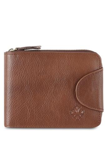 Lumberjacks brown Lumberjacks Leather Zip Wallet LU545AC0RH0CMY_1