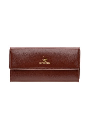 British Polo brown British Polo Shine Flap Wallet 009E7ACFA48818GS_1
