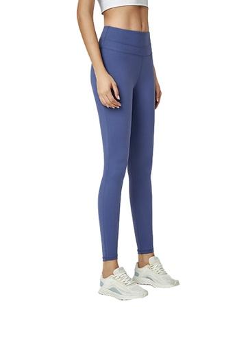B-Code 藍色 ZWG1103a-女士時尚瑜珈運動健身褲-藍色 B7C5CAA5AB4FB8GS_1