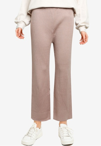 GLOBAL WORK brown Casual Knit Pants 1F4F3AA2C6C572GS_1