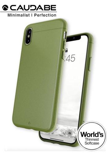 "Caudabe green Case iPhone Xs Max 6.5"" - Caudabe Sheath Softcase Slim Casing - Camo Green F7270ES8DF3D70GS_1"