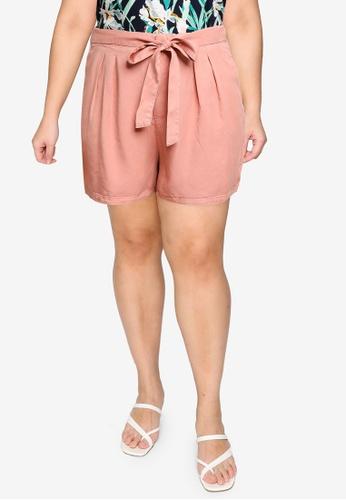 Vero Moda pink Plus Size Mia Hr Loose Summer Shorts 0F207AAE391284GS_1
