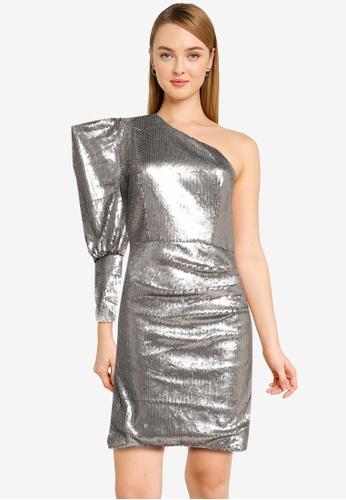 CHI CHI LONDON silver Chi Chi Addie Dress CA2B5AA140E69CGS_1