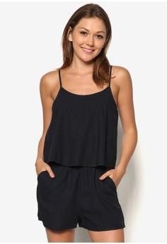 Strap Linen-Blend Jumpsuit