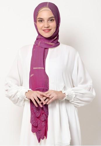 KASHKHA purple Pashmina Scarf Cotton Lace on Taraf by Kashkha/A18SHCASFCKGR3000-Magenta 42C23AA040FA59GS_1