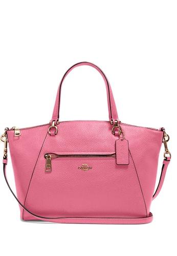 COACH pink Coach Pebble Leather Prairie Satchel - Confetti Pink BD9B5AC117BEEDGS_1
