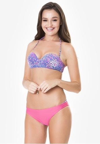 Naked Sun Swimwear pink Carina Bandeau and Reversible Bottom Set NA317US0IZIOPH_1