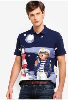 00f6c43ad Polo Ralph Lauren navy Short Sleeve Polo Shirt A4375AAD1D4A3DGS 1