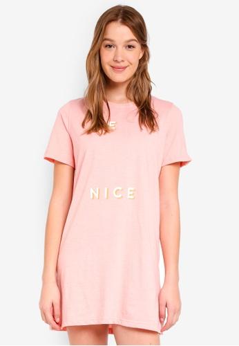 Cotton On Body pink Boxy Tshirt Nightie 7B85BAA697D7DAGS_1