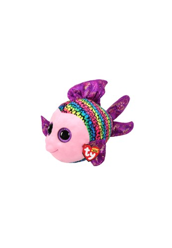 TY TY - Beanie Boos Flippy Multicolor Fish - R -  Boneka ikan bermata belo E339ATHDC5EBD5GS_1