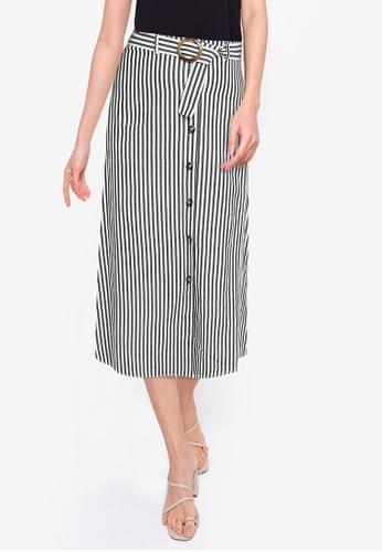 ZALORA BASICS multi Button Down Skirt With Belt 0F051AA579AD25GS_1