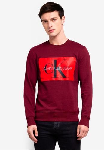 Calvin Klein 紅色 圓領棉T 6C2B2AA213BF22GS_1
