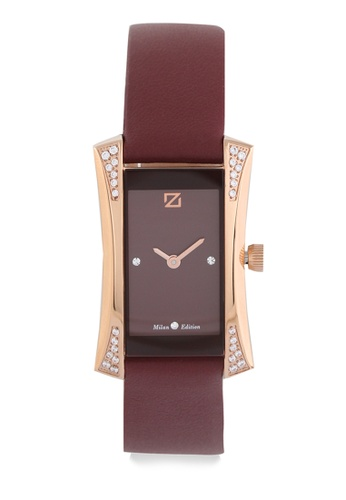 ZECA red Zeca Watches Ladies Fashion Leather Analog - 149LD Red Rosegold ZE260AC0H99VSG_1