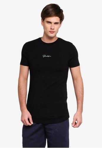 River Island 黑色 短袖T恤 E2F62AA2A654DFGS_1